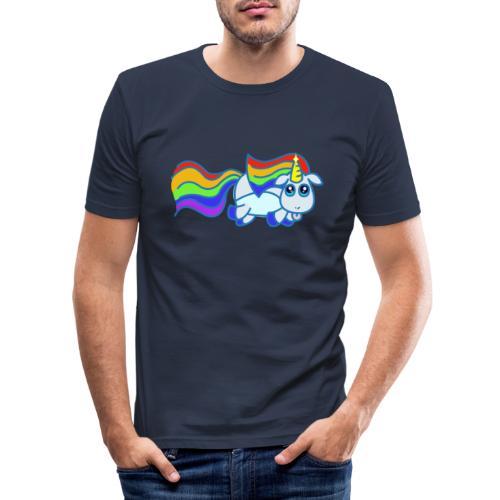 Nyan unicorn - Maglietta aderente da uomo