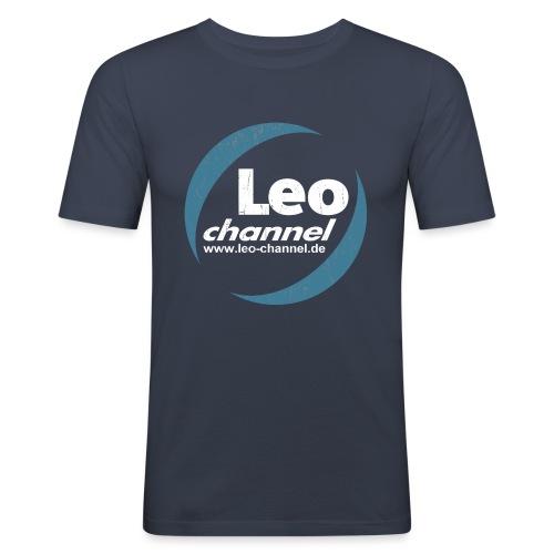 T Shirt Logo Dirty - Leo Channel - Männer Slim Fit T-Shirt