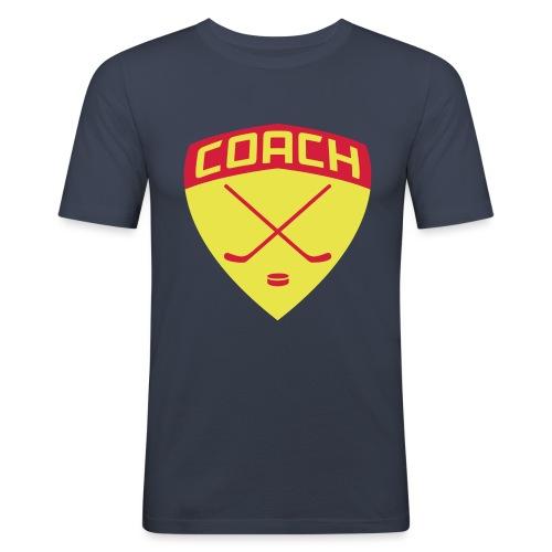 ice-hockey-coach-blue_vec - Men's Slim Fit T-Shirt