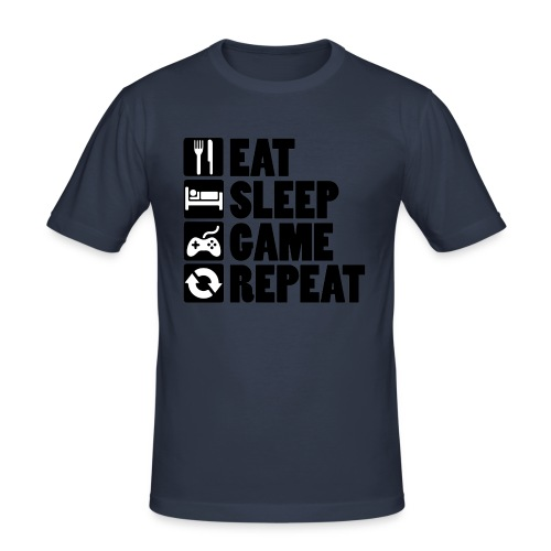 Eat Sleep Game Repeat - Herre Slim Fit T-Shirt