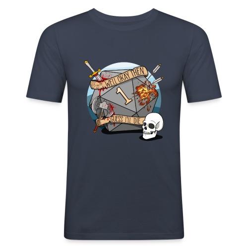 Arvelen kuolen - DND D & D Dungeons and Dragons - Miesten tyköistuva t-paita