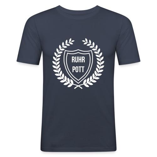 RUHRPOTT LOGO - Männer Slim Fit T-Shirt
