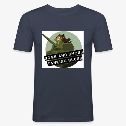 logo dogs nieuw - Mannen slim fit T-shirt