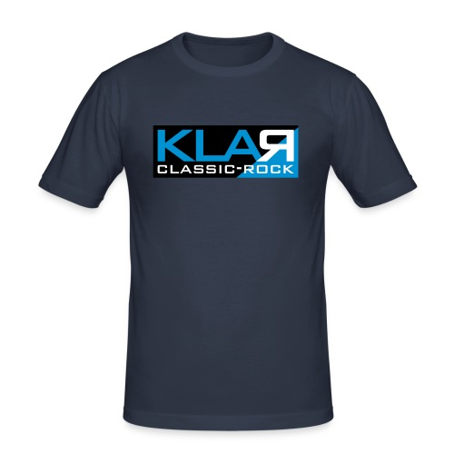 KLAR-Logo clear - Männer Slim Fit T-Shirt
