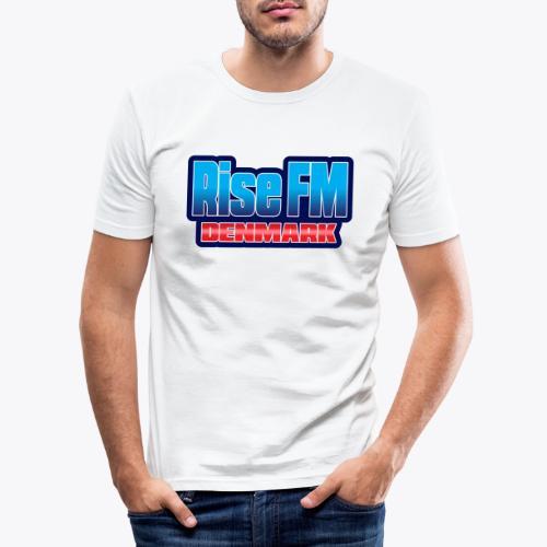 Rise FM Denmark Text Only Logo - Men's Slim Fit T-Shirt