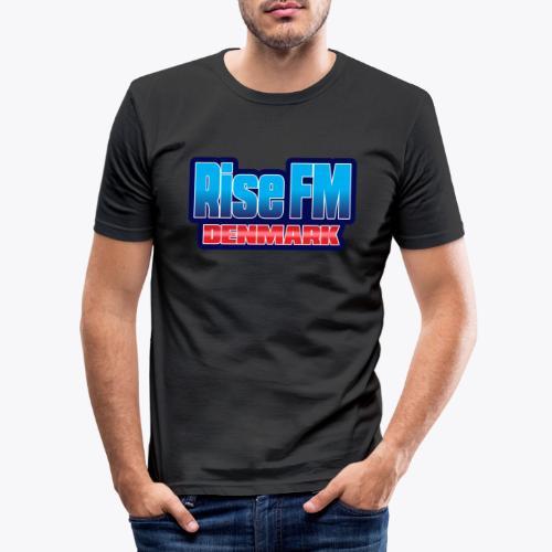 Rise FM Denmark Text Only Logo - Herre Slim Fit T-Shirt