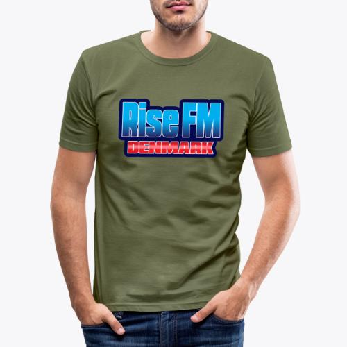 Rise FM Denmark Text Only Logo - Men's Slim Fit T-Shirt