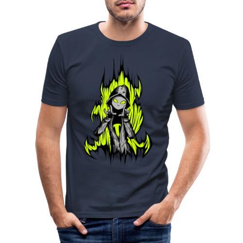 KRASS mit Flamme - Männer Slim Fit T-Shirt