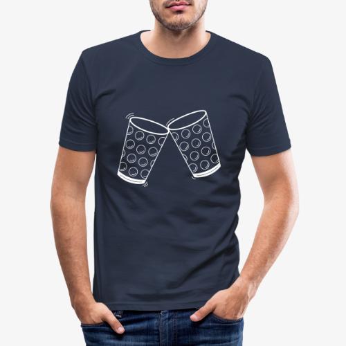 Dubbeglas - Weinschorle - Wein - Pfalz - Männer Slim Fit T-Shirt
