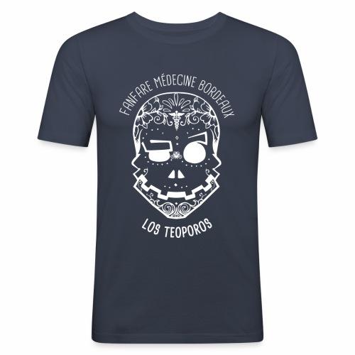LOGO Calavera Positif Blanc - T-shirt près du corps Homme