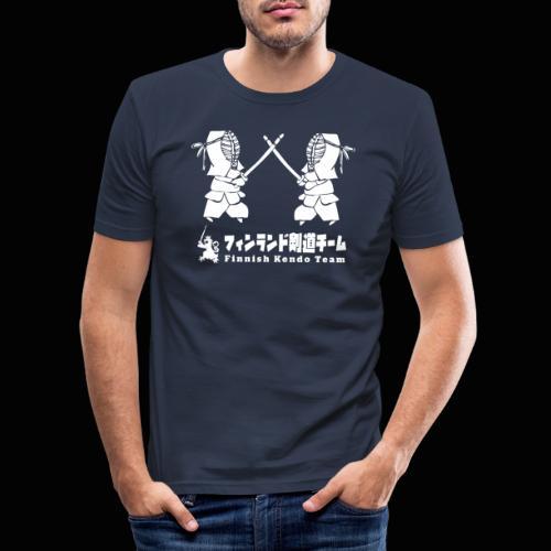 fka team logo white - Miesten tyköistuva t-paita
