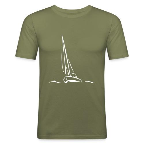 Segelboot - Männer Slim Fit T-Shirt