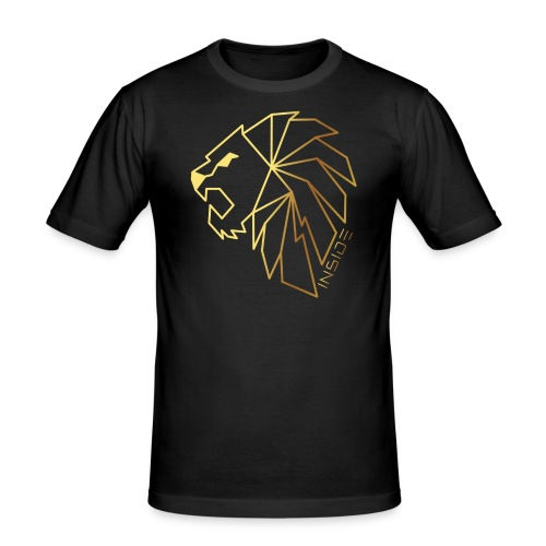Löwe, Lion Inside - Männer Slim Fit T-Shirt