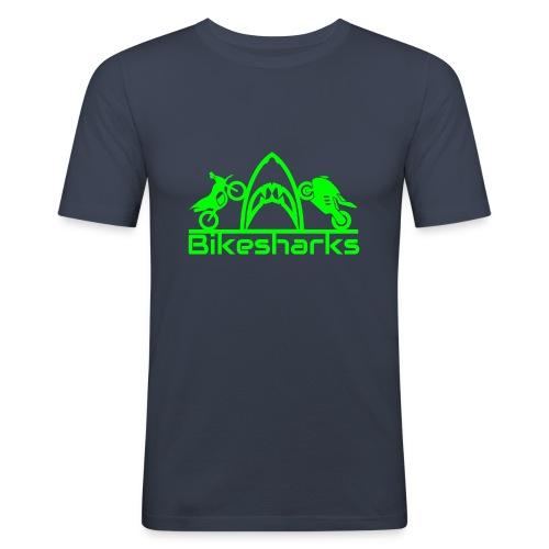 Bikesharkslogo Grün - Männer Slim Fit T-Shirt