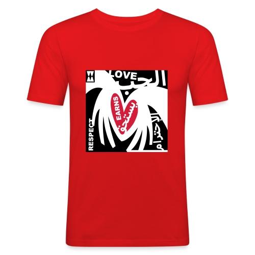 001loveearnsrespect - Mannen slim fit T-shirt