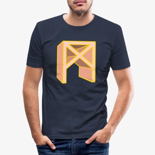 Rune Mannaz in Living-Coral - Männer Slim Fit T-Shirt