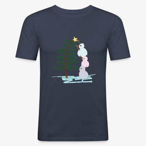 3bonhommesdeneige - T-shirt près du corps Homme
