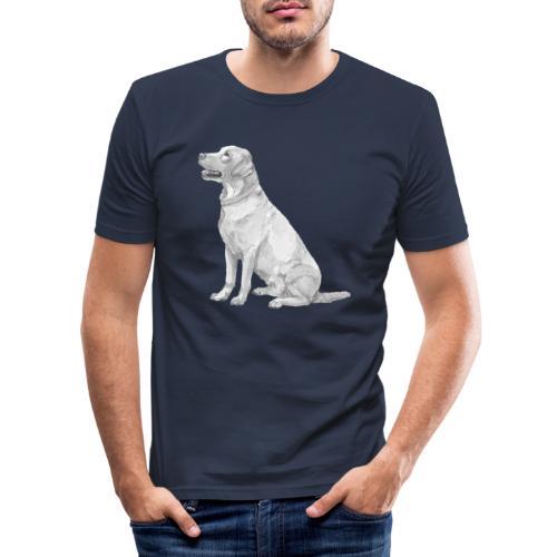 labrador Retriever Yellow - Ink - Herre Slim Fit T-Shirt