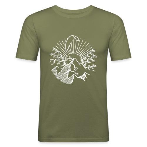 Paraglider Mountain Sunrise - Männer Slim Fit T-Shirt