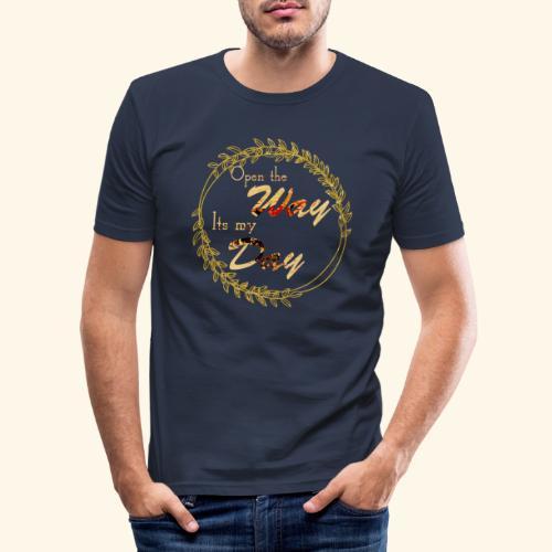 its my day weddingcontest - Men's Slim Fit T-Shirt