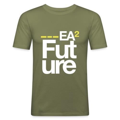 ssea2yellowwhiteonblacktshirt - Men's Slim Fit T-Shirt
