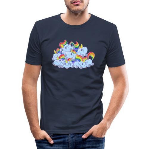 Moar unicorns! - Maglietta aderente da uomo