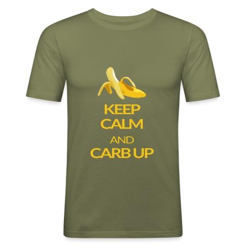KEEP CALM and CARB UP - Männer Slim Fit T-Shirt