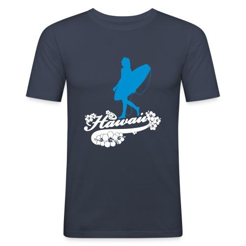 Surf Hawaii Longboard - Männer Slim Fit T-Shirt