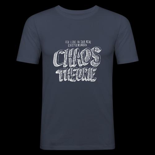 Chaos Theory (valkoinen) - Miesten tyköistuva t-paita