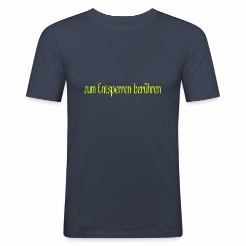 zum Entsperren berühren - Männer Slim Fit T-Shirt
