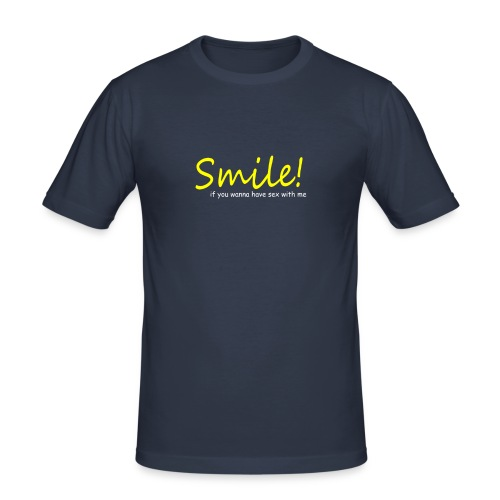 Smile for Sex - Männer Slim Fit T-Shirt