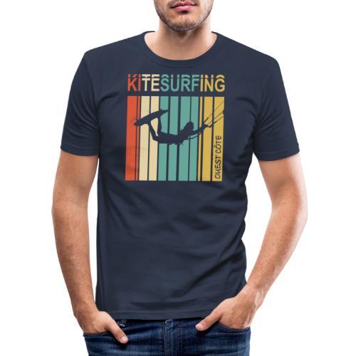 Kitesurfing Ouest Côte - T-shirt près du corps Homme