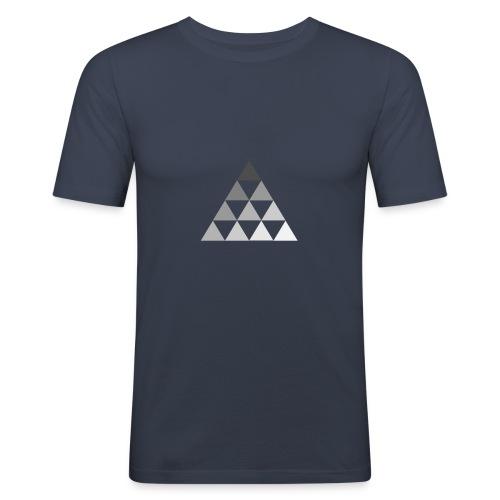 TRIANGLE FADE - Maglietta aderente da uomo