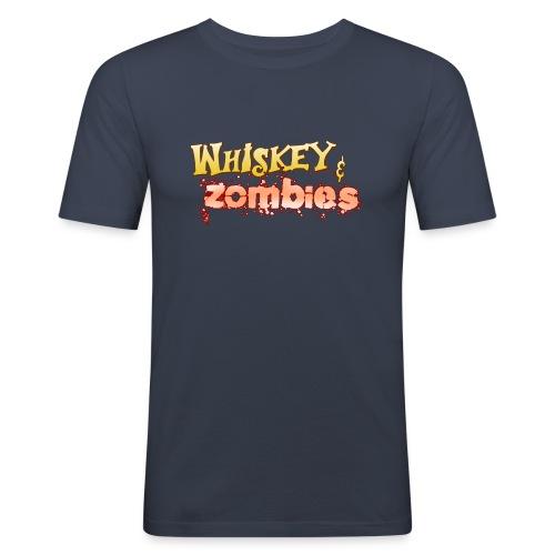 Whiskey Zombies Logo - Slim Fit T-shirt herr