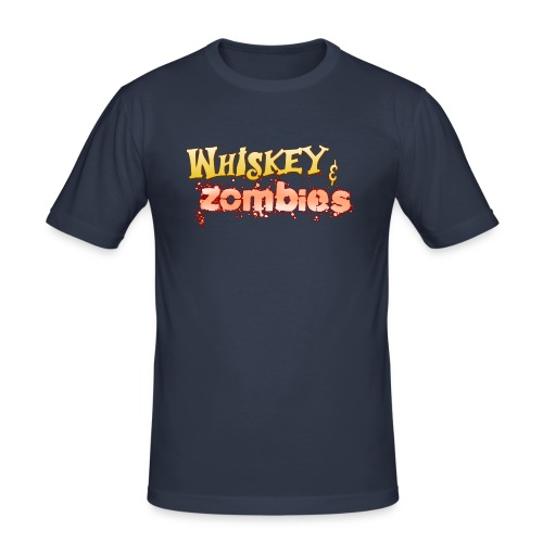 Whiskey Zombies Logo - Slim Fit T-shirt herr