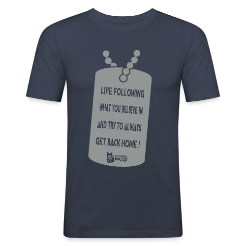 Matthew Skud Club Graphics - Men's Slim Fit T-Shirt