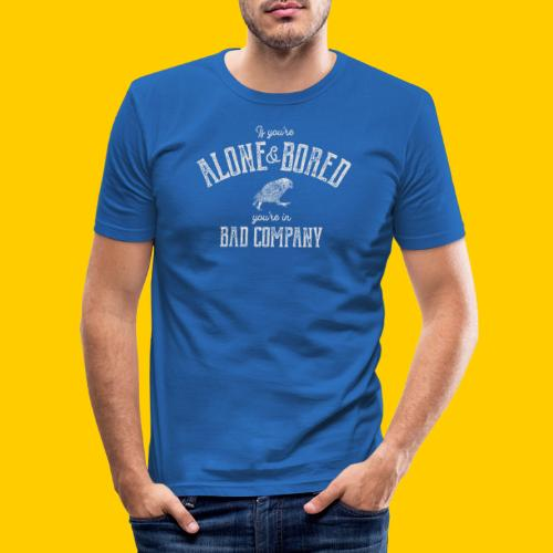 Alone and bored - Slim Fit T-shirt herr