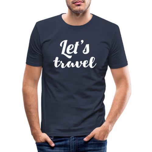 Let's travel - Men's Slim Fit T-Shirt