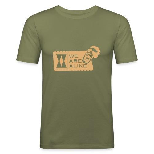 003defetiketzwart - Mannen slim fit T-shirt