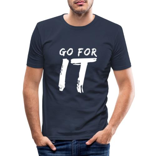 GO FOR IT - Männer Slim Fit T-Shirt