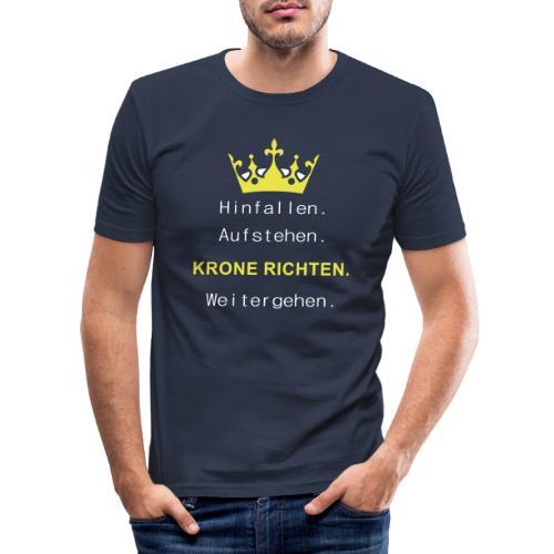 Krone Richten - Männer Slim Fit T-Shirt