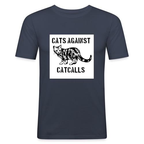 Cats against catcalls - Men's Slim Fit T-Shirt