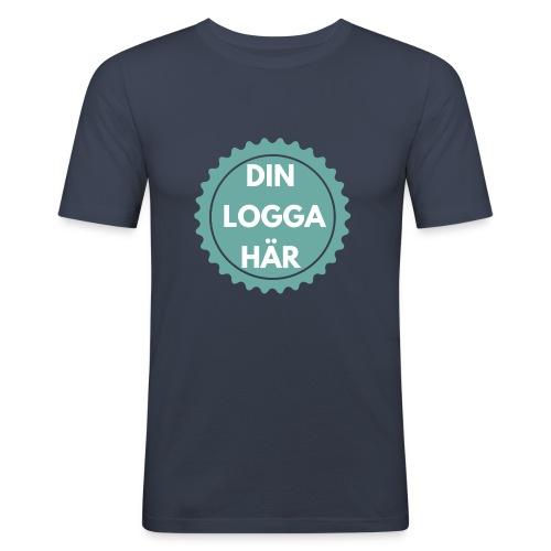 Egen Logga - Slim Fit T-shirt herr