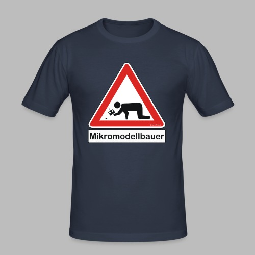 Warnschild Mikromodellbauer Auto - Männer Slim Fit T-Shirt