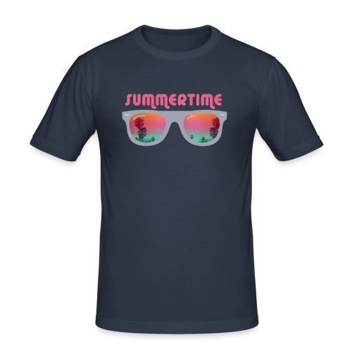summertime sunglasses - Obcisła koszulka męska