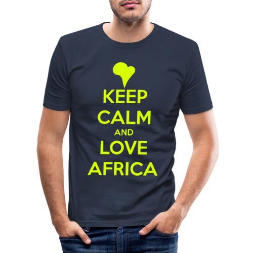 keep calm noir - T-shirt près du corps Homme