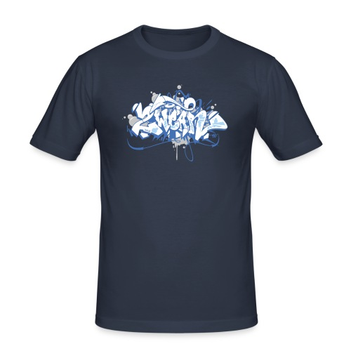 Dae 2Wear graffiti style ver01 blue edt - Herre Slim Fit T-Shirt