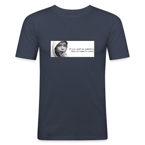 quiet - Mannen slim fit T-shirt