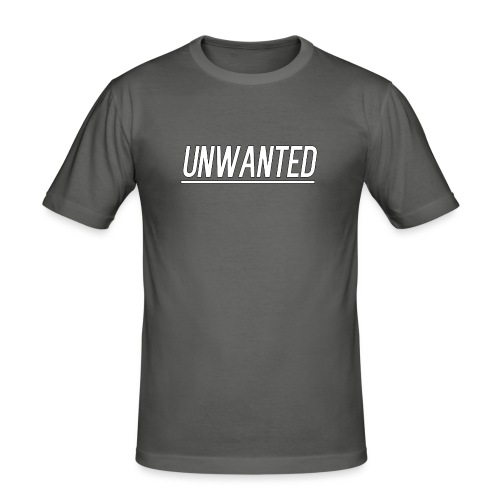 UNWANTED Logo Tee White - Men's Slim Fit T-Shirt