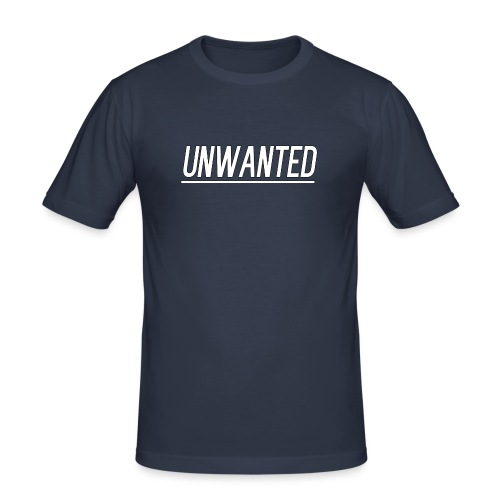 UNWANTED Logo Tee White - Men's Slim Fit T-Shirt